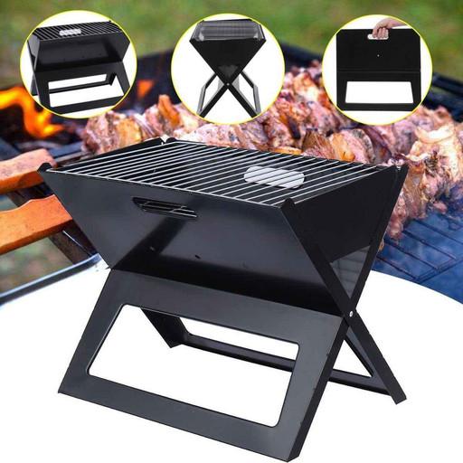 Складной барбекю гриль портативный гриль BBQ Grill Portable ХХ, Мангал раскладной на 9 шампуров + подарок