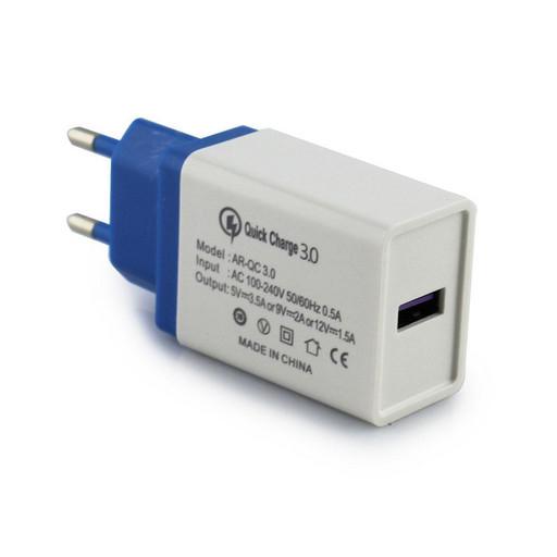 Адаптер QC3.0 Fast Charge USB AR 60 (арт:4311/5216)