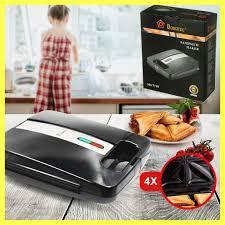 Электрическая сендвичница Domotec MS 7718 4 ломтика / Cэндвич-бутербродница с антипригарным покрытием 1400 Вт