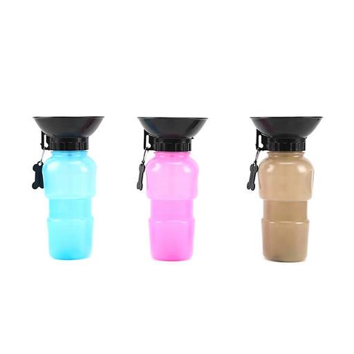 Портативная бутылка питьевой воды PET BOTTLE для животных | прогулочная бутылка с чашей для собак