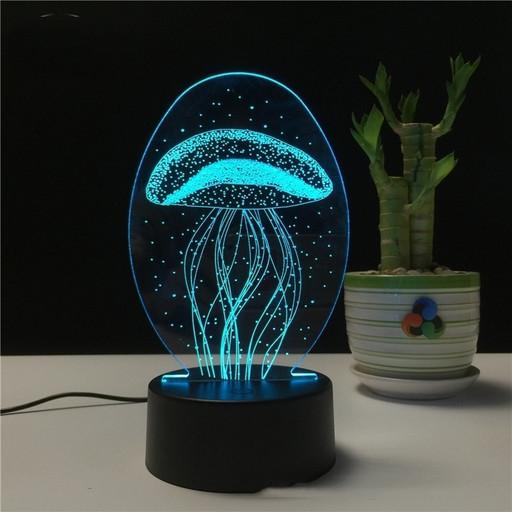 Трехмерный светодиодный светильник 'Медуза', лампа для яркого интерьера дома EL- 264