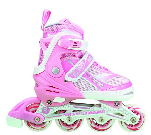 Роликовые коньки для девочки Nils Extreme NA1123A Size 39-42 Pink ролики детские розового цвета
