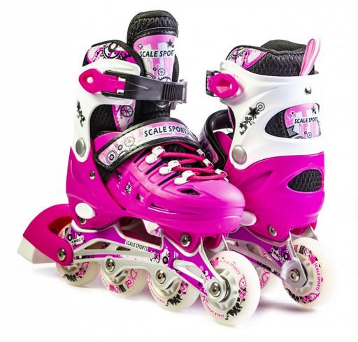 Ролики Scale Sport Розовые размер 29-33