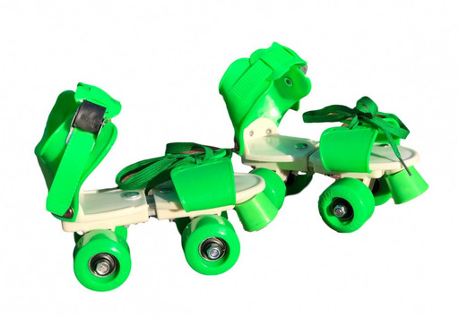 Ролики Квады раздвижные Scooter 4009A New Version 2020 (S 31-34) Зеленые