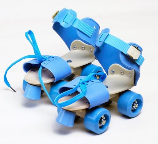 Ролики Квады раздвижные Scooter 4009A New Version 2020 (S 31-34) Голубые