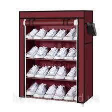 Тканевый шкаф для обуви 4 полки