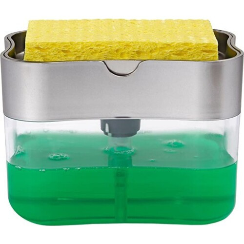 Органайзер для мочалок з дозатором мила Soap Pump Sponge Caddy