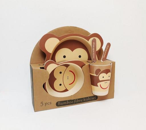 Оригинал набор детской посуды из бамбукового волокна разные рисунки