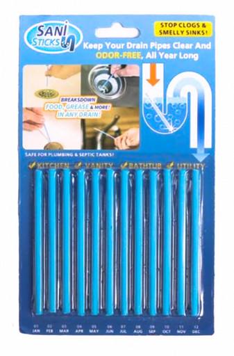 Палка для устранения засоров SANI STICKS, Набор палочек для очистки труб, Очиститель труб и канализации! Акция