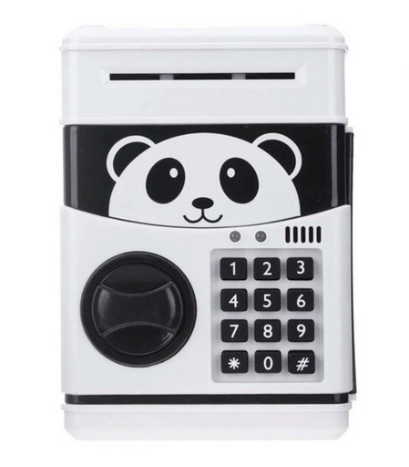 Электронный сейф-копилка с кодовым замком Panda Черно-белый