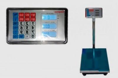 Электронные торговые весы  до 300 кг с железной головой и аккумулятором на 6V