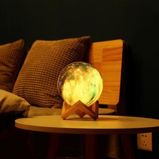 Лампа Луна 3D Moon Lamp. Настольный светильник луна Magic 3D Moon Light. 3D ночник на сенсорном управлении