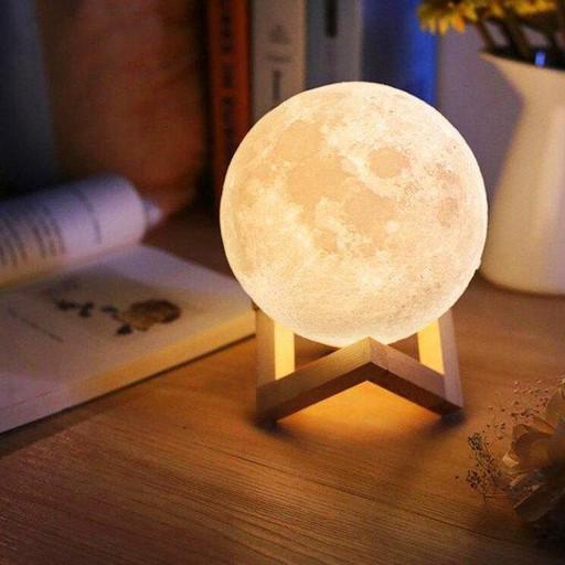 Лампа Луна 3D Moon Lamp. Настольный светильник луна Magic 3D Moon Light. 3D ночник на сенсорном управлении с р