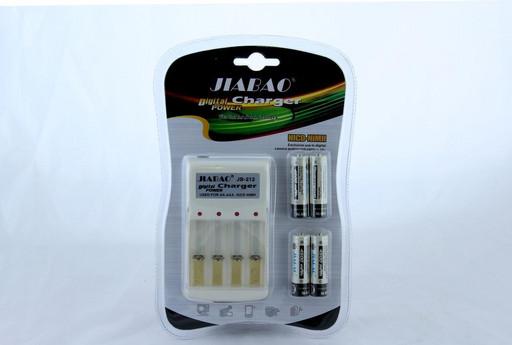 Зарядное устройство для батареек АА в комплекте с 4-мя пальчиковыми батарейками Jiabao Charger JB 212