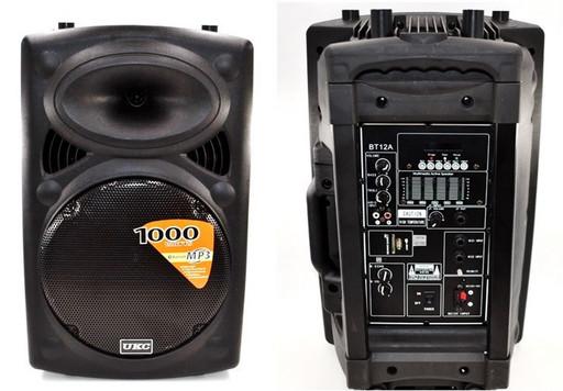 Мощная портативная колонка-чемодан 120Вт UKC BT-12A + 1 микрофон