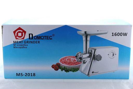 Электрическая мясорубка Domotec MS 2018 1600W, для кухни, мясорубка электро с насадками