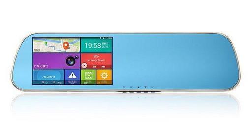 Зеркало регистратор, 5 сенсор, 2 камеры, GPS навигатор, WiFI, 8Gb, Android