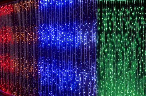 Светодиодная гирлянда водопад LED 180 WATER PROOF (7 цветов на выбор)