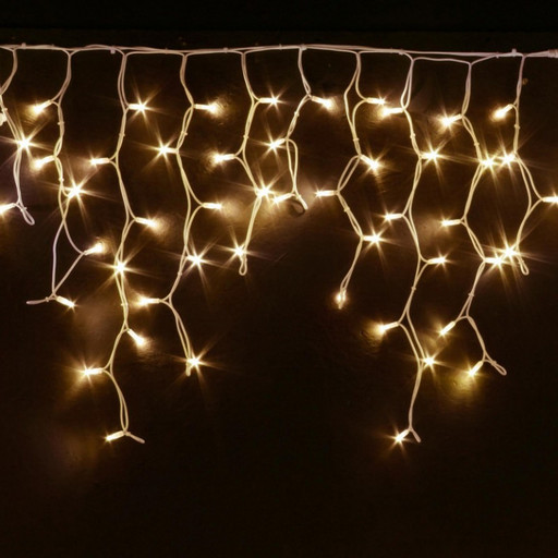 Гирлянда Мини штора (Icicle) 5м х 0,6м Белый кабель-Тепло белое свечение
