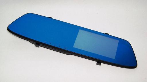 Видеорегистратор автомобильный Vehicle Blackbox DVR T605 HD зеркало с двумя камерами