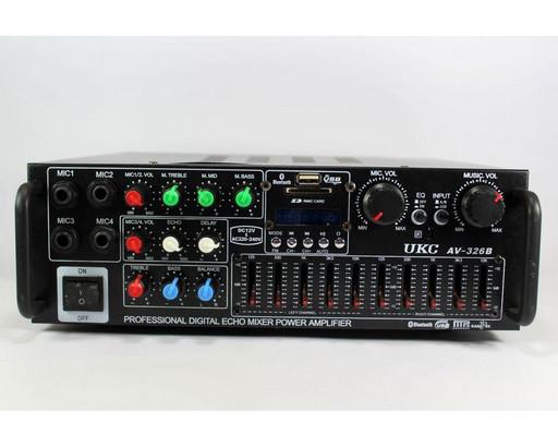 Усилитель мощности звука MAX AV-326BT Bluetooth КАРАОКЕ