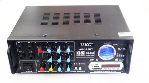 Усилитель звука UKC AV-325BT USB+SD+AUX+Bluetooth+Караоке