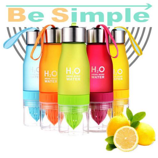 Бутылка для воды и напитков H2O Water Bottle с соковыжималкой 650 мл № B70