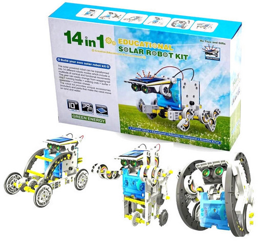 Конструктор робот на солнечных батареях Solar Robot 14 в 1