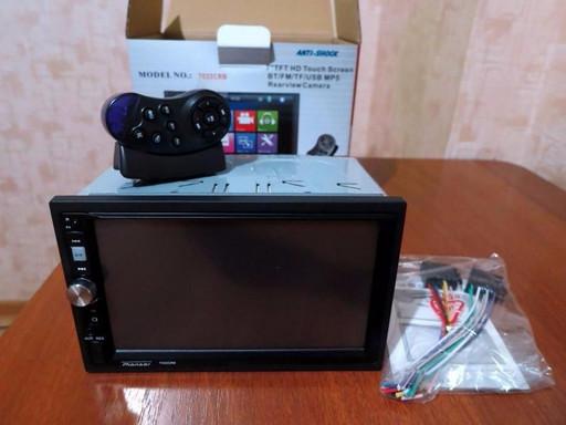 Автомагнитола 2din дин Пионер 7023CRBG с навигатором GPS навігатор BT сенсор7' магнітола магнітофон в авто