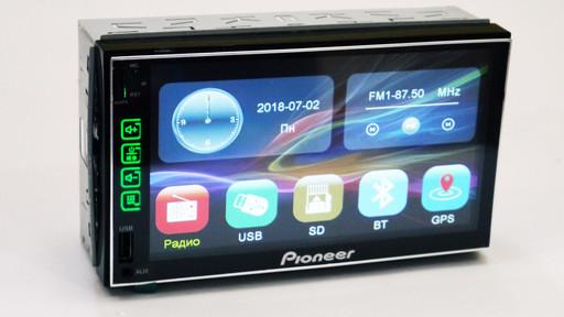 Автомагнитола Pioneer 7024 Экран 7' 2din + GPS + 8 Gb карта с навигацией (Короткая база)