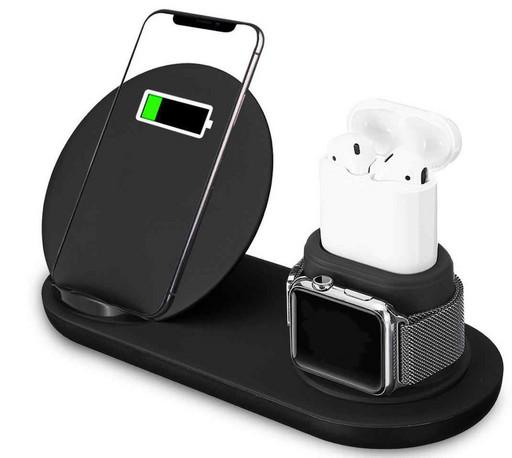 Беспроводная док-станция oneLounge FastCharge 10W 3-in-1 для iPhone/AirPods/Apple Watch 1/2/3