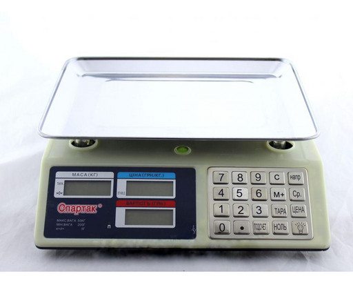 Весы ACS 50kg/5g CK 982S Metal Button, Настольные весы, Весы торговые, Весы платформенные, Электронные весы