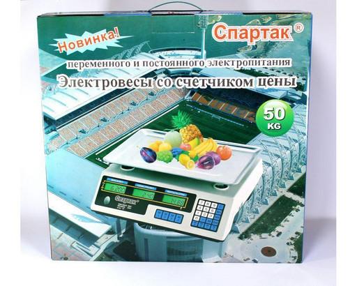 Весы ACS 50kg/5g 218 Domotec 6V flat-pan, Весы с аккумулятором торговые, Электронные весы, Весы до 50 кг