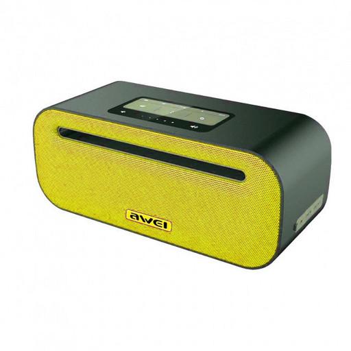 Портативная Bluetooth колонка звук Hi-Fi с дизайном объемного звука функция NFC 2600 мА Awei Y600 желтый