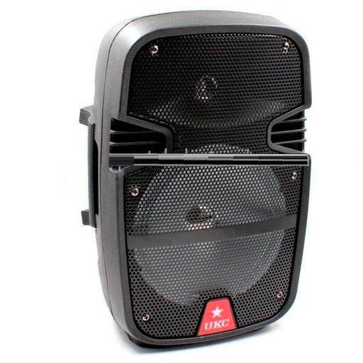 Портативная Bluetooth колонка UKC 8 / RE 258 + проводной микрофон D1031