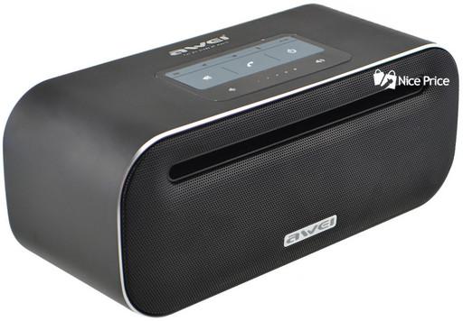 Портативная сенсорная Bluetooth колонка Awei Y600 (Bluetooth, MP3, AUX, Mic) Black
