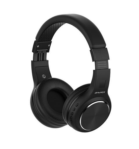 Беспроводные Bluetooth наушники гарнитура Awei A600BL Black