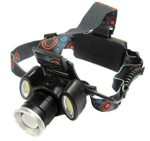 Налобный фонарик BL POLICE С865 Cree T6 + 2 COB, 1600 люмен, 4 режима работы Черный (hub_tRyK43823)