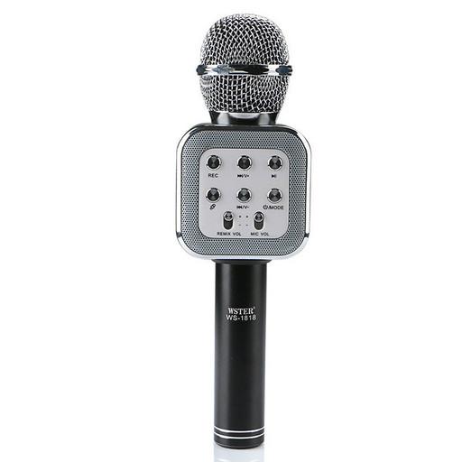 Беспроводной микрофон для караоке WS-1818 с функцией изменения голоса Черный (006556 Черный)