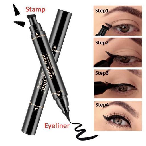 Двухсторонняя подводка штамп для глаз Snail Girl Eyeliner для идеальной стрелки черный 150741