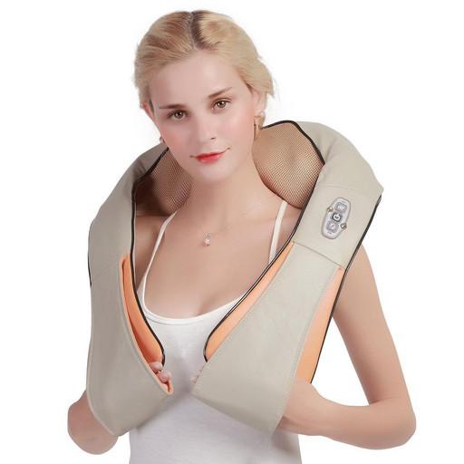 Универсальный Массажер для шеи и спины Massager of Neck Kneading 55w Оригинал Шиацу (роликовый)