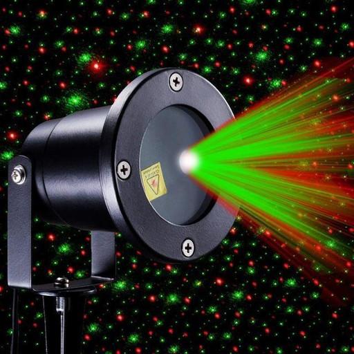 Декоративный уличный лазерный проектор с пультом управления METAL 66