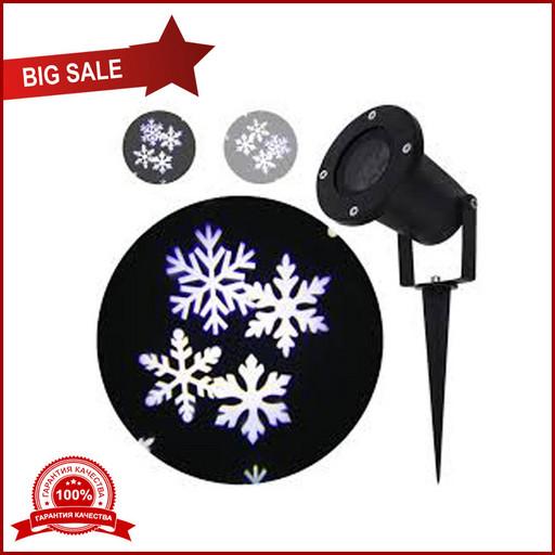 Проектор лазерный Star Shower снег Snowflake 608