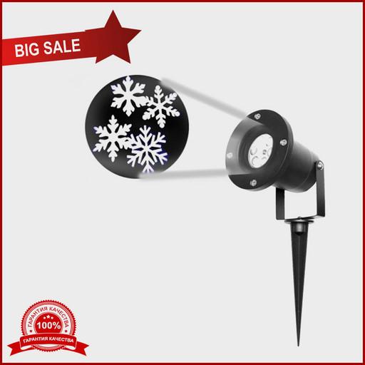 Лазерный проектор Star Shower WHITE Snowflake
