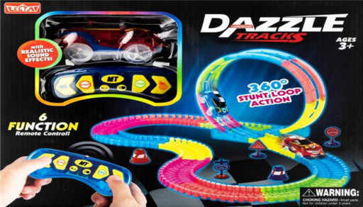 DAZZLE TRACKS 187 деталей с пультом управления | Игрушечный трек для машинок | Конструктор трасса