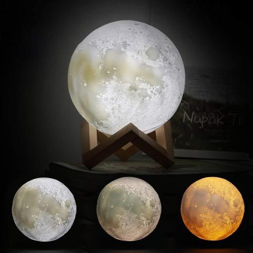 Ночник детский Луна 3d Эко Ударостойкий 3-цвета свечения Настройка яркости AVVS tech i5.9