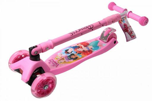 Оригинальные Самокаты Детские с складной Ручкой, Самокаты Maxi Disney Русалочка Ариэль с наклонной ручкой и с светящиеся Колесами по ценам