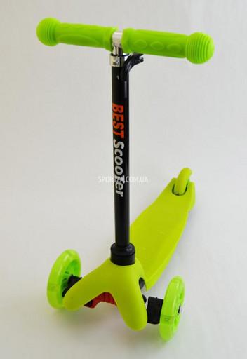 Купить Самокат Детский Micro Mini Best Scooter Салатовый Регулируемая Ручка Колеса светятся по самой низкой цене в Киеве, Одессе, Днепропетровске,