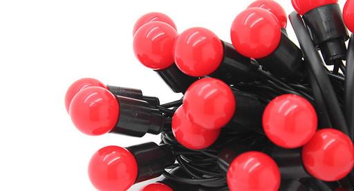 Гирлянда Шарики 100 LED Красный 10 метров