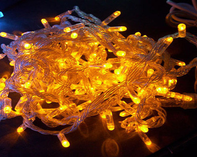 Гирлянда Нить 100 LED 10 м Жёлтый